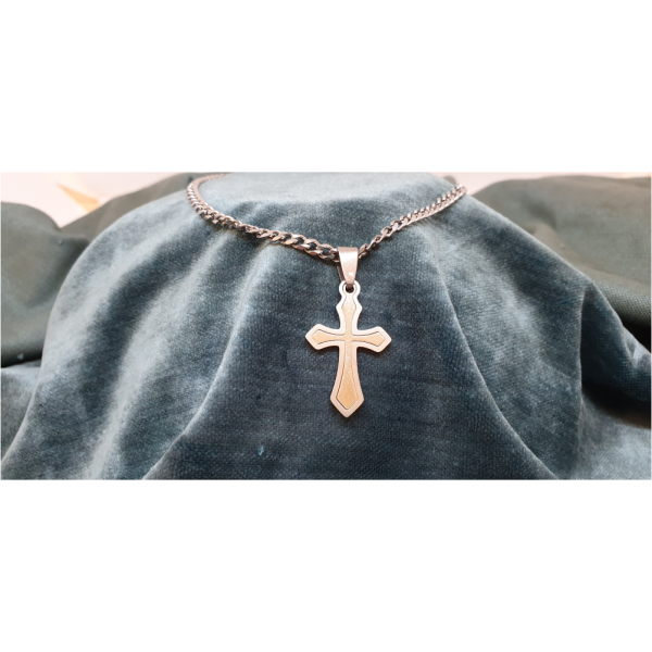 50cm Stainless Steel Chain with Cross pendant