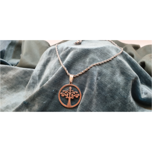 50cm Stainless Steel Chain with Tree of Life pendant