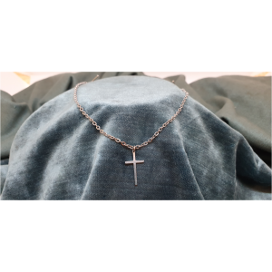 70cm Stainless Steel Chain with Cross pendant