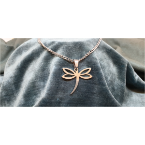70cm Stainless Steel Chain with Dragonfly pendant