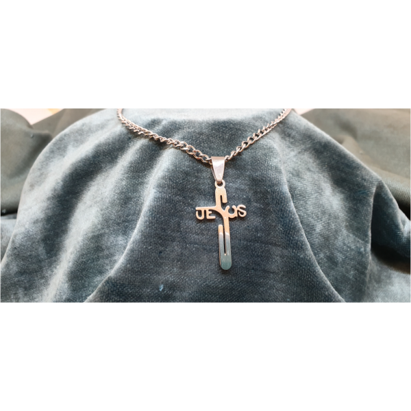 70cm Stainless Steel Chain with Jesus Cross pendant