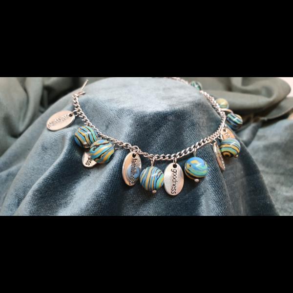 African Green Blue Beads - FOS
