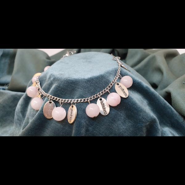 African Rose Quartz Beads - FOS