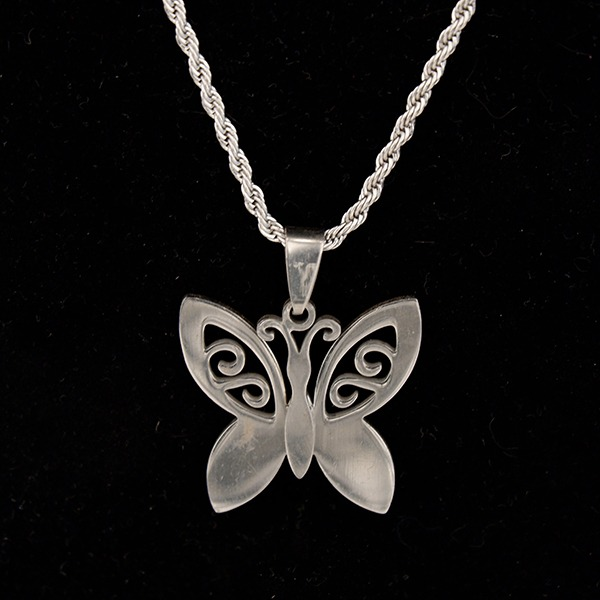 Stainless Steel Chain with Butterfly pendant