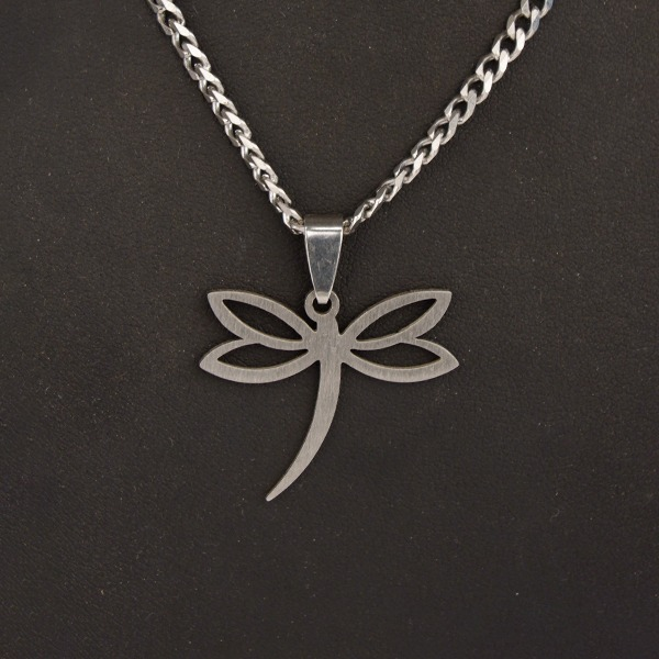 Stainless Steel Chain with Dragonfly pendant