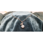 50cm Stainless Steel Chain with Crystal Apple pendant